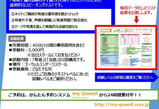 GTEC発音力測定テスト